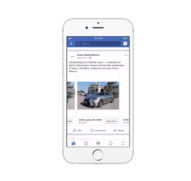 Facebook расширил возможности автомобильной рекламы